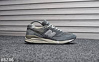 Женские кроссовки New Balance 998 Gray Black Orange, Реплика, фото 1