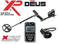 Металлоискатель XP DEUS 22 RC (X35) с обновленной катушкой 22 см и беспроводными наушниками WS4