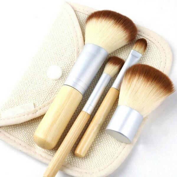 Набор кистей для макияжа с чехлом в стиле ecotools