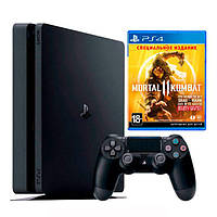 Ігрова приставка Sony PlayStation 4 Slim 1Tb Black + Mortal Kombat 11 (російська вер (PS4 Slim 1Tb + Mortal Kombat 11)