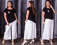 Женский костюм летний с укороченными брюками, с 48-58 размер, фото 1