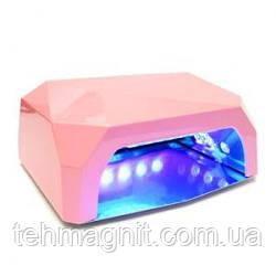 Лампа гибридная Diamond 36w (12W CCFL + 24W LED) нежно-розовая