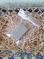 Пробник мыла ручной работы с голубой лечебной глиной, 25 гр.
