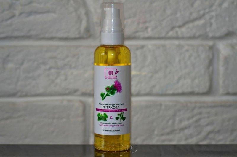 Репейное масло с экстрактом крапивы и лопуха, 100мл