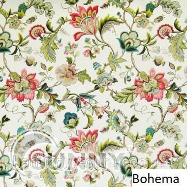 Рулонные шторы для окон в закрытой системе Sunny с плоскими направляющими - ПЛАСТИК,  ткань - Bohema