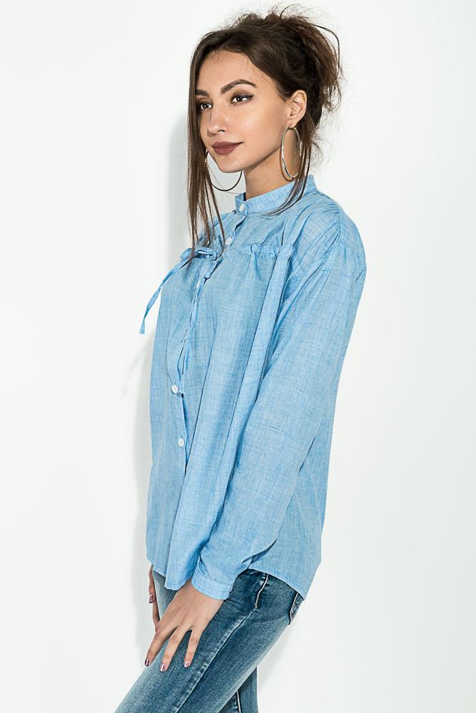 9bedbbad937 Рубашка женская с завязками на груди 64PD337-1 (Голубой)