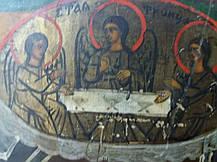 Икона Явление Богородицы Сергию Радонежскому  19век. Россия, фото 3