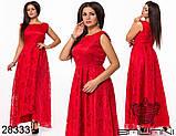 Шикарное длинное женское вечернее платье с асимметрией 48,50,52р.(7расцв), фото 7