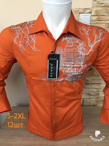 Мужская  рубашка с принтом, фото 2