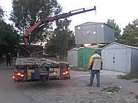 Перевозка цельного гаража манипулятором