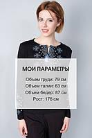 Трикотажная футболка вышиванка с орнаментом