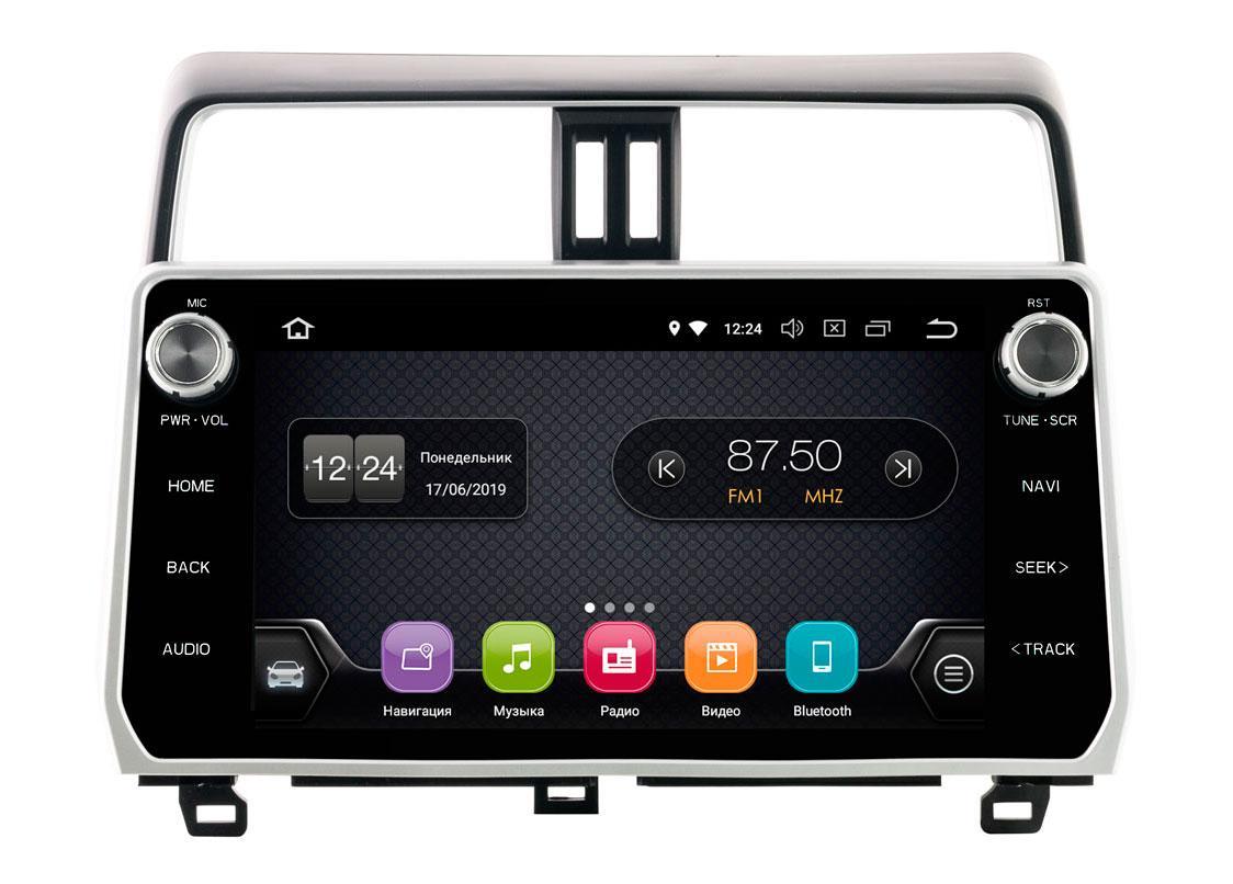 """Штатное головное устройство Incar Toyota Prado 150 2018+ TSA-2247 Android 8.0.1 экран 9"""""""