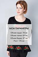 Молодежная футболка с вышитыми  цветами от производителя