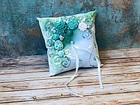 Свадебная подушечка для обручальных колец Bonita мятная (300)