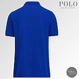 Мужская футболка тениска поло Ralph Polo Lauren | Чоловіча теніска поло Ральф Поло Лорен (Синий), фото 3