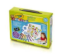 """Набор для творчества """"Мой первый набор"""" со штампами, восковыми карандашами, наклейками  Mini kids, Crayola"""