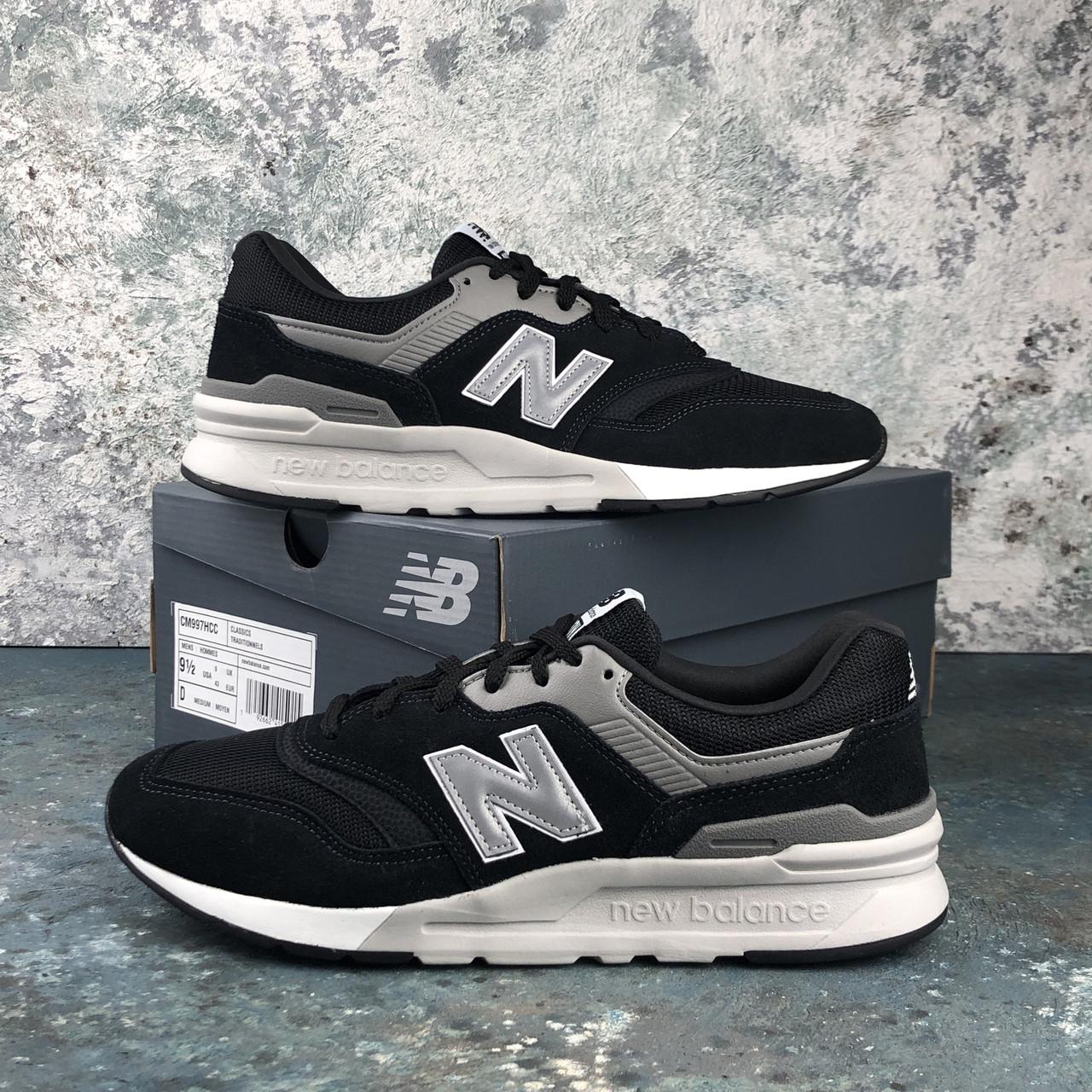 Мужские кроссовки New Balance 997 H Black\Silver CM997HCC. Оригинал. Замша. Подошва резина