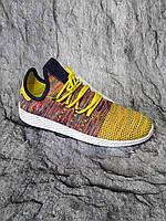 Кроссовки adidas x Pharrell Williams Tennis Hu Primeknit Semi Frozen Yellow (оригинал), фото 1