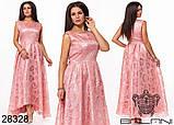 Шикарне довге жіноче вечірнє плаття з асиметрією 48,50,52 р.(7расцв), фото 3