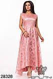 Шикарне довге жіноче вечірнє плаття з асиметрією 48,50,52 р.(7расцв), фото 4