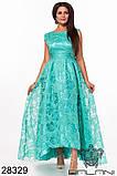 Шикарне довге жіноче вечірнє плаття з асиметрією 48,50,52 р.(7расцв), фото 2