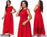 Шикарне довге жіноче вечірнє плаття з асиметрією 48,50,52 р.(7расцв), фото 7