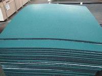 Резиновая плитка уличная.Зеленая. Толщина 20 мм (1000 на 1000 мм)