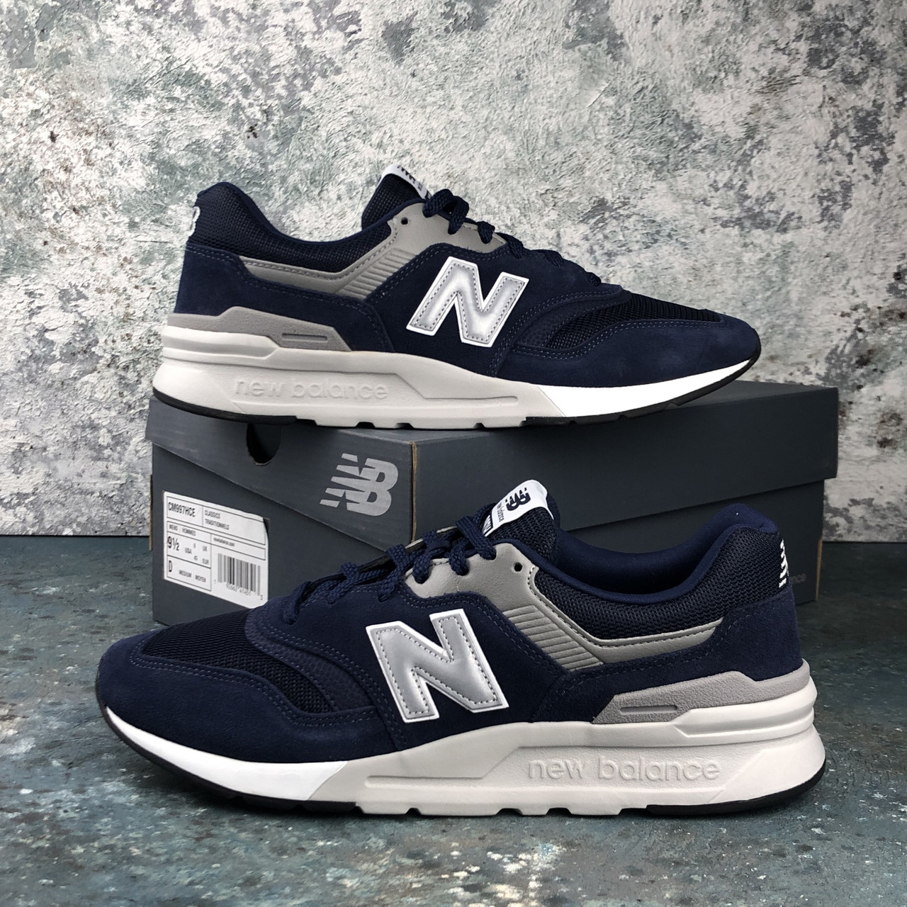 Мужские кроссовки New Balance 997 H Dr. Blue/Silver CM997HCE. Оригинал. Замша. Подошва резина