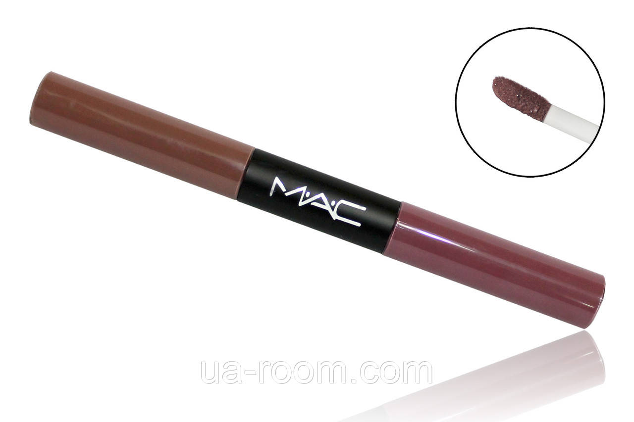 Двусторонний матовый блеск для губ MAC ultra matte lip waterproof lipgloss №1,2