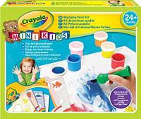 """Набір для творчості """"Малюємо фарбами"""" баночки з фарбами, пензлики, розмальовки, Mini Kids, Crayola"""