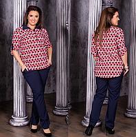 Костюм женский брючный с блузкой, с 52-58 размер, фото 1