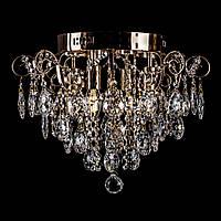 Хрустальная LED люстра PM-2247/4+4/LED (золотая)