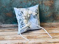 Свадебная подушечка для обручальных колец Bonita белая (300)