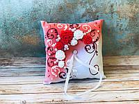 Свадебная подушечка для обручальных колец Bonita красная (300)