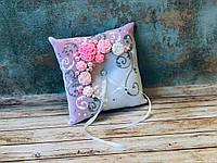 Свадебная подушечка для обручальных колец Bonita розовая (300)