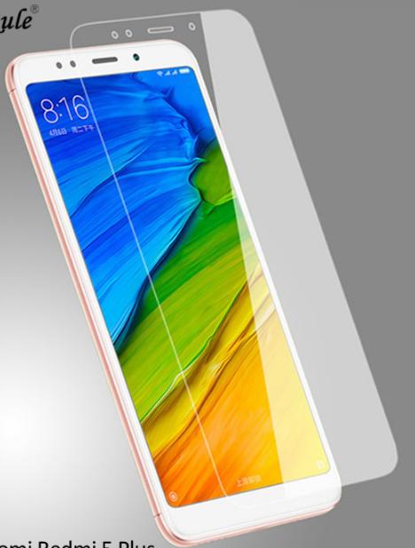 Закаленное прозрачное стекло для Xiaomi Redmi 5 Plus / края 2.5D / полный клей!!!