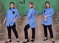 Женский костюм брючный украшен пайеткой, с 50-56 размер, фото 1