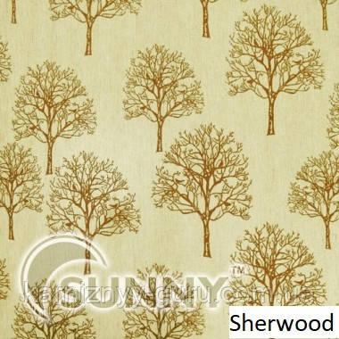 Рулонные шторы для окон в закрытой системе Sunny с плоскими направляющими - ПЛАСТИК ткань Sherwood