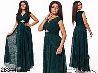 Очень красивое вечернее женское платье длинное в пол 48-52р.(4расцв)