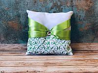 Свадебная подушечка для обручальных колец Bonita зеленая (400)