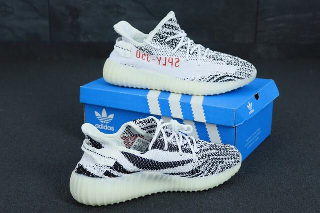 Женские Кроссовки Adidas Yeezy Boost 350 Zebra фото