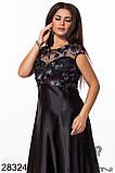 Очень красивое вечернее женское платье длинное в пол 48-50-52р.(4расцв), фото 6