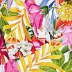 Купальник раздельный на одно плечо, принт цветы, фото 3