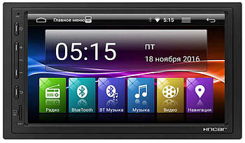 "Автомагнитола 2 Дин Universal INCAR AHR-1853 оригинал Экран 7"" Android 7 172*98 матовая рамка"