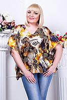 Блуза женская большого размера Летучая мышь 6 AN размер 48-54