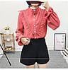 Женственная рубашка с фатином (в расцветках 44-46), фото 2