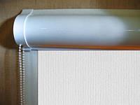 Ролеты тканевые (рулонные шторы) White Maxi Black out Besta uni закрытый короб, фото 1