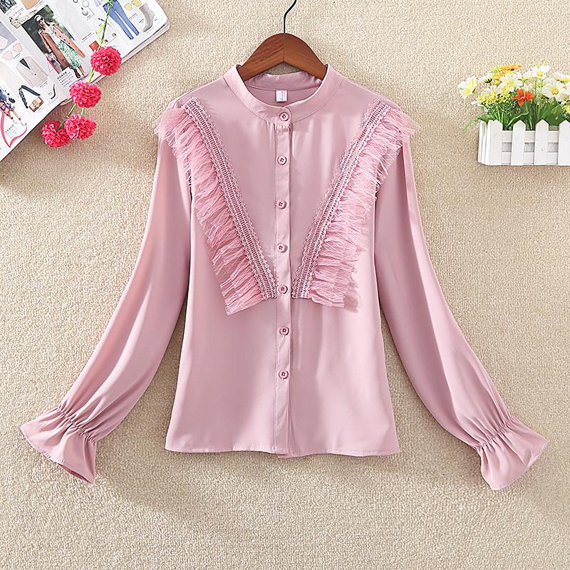 Женственная рубашка с фатином (в расцветках)