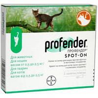 Профендер капли для котов 0.5-2.5 кг Bayer 1 пипетка