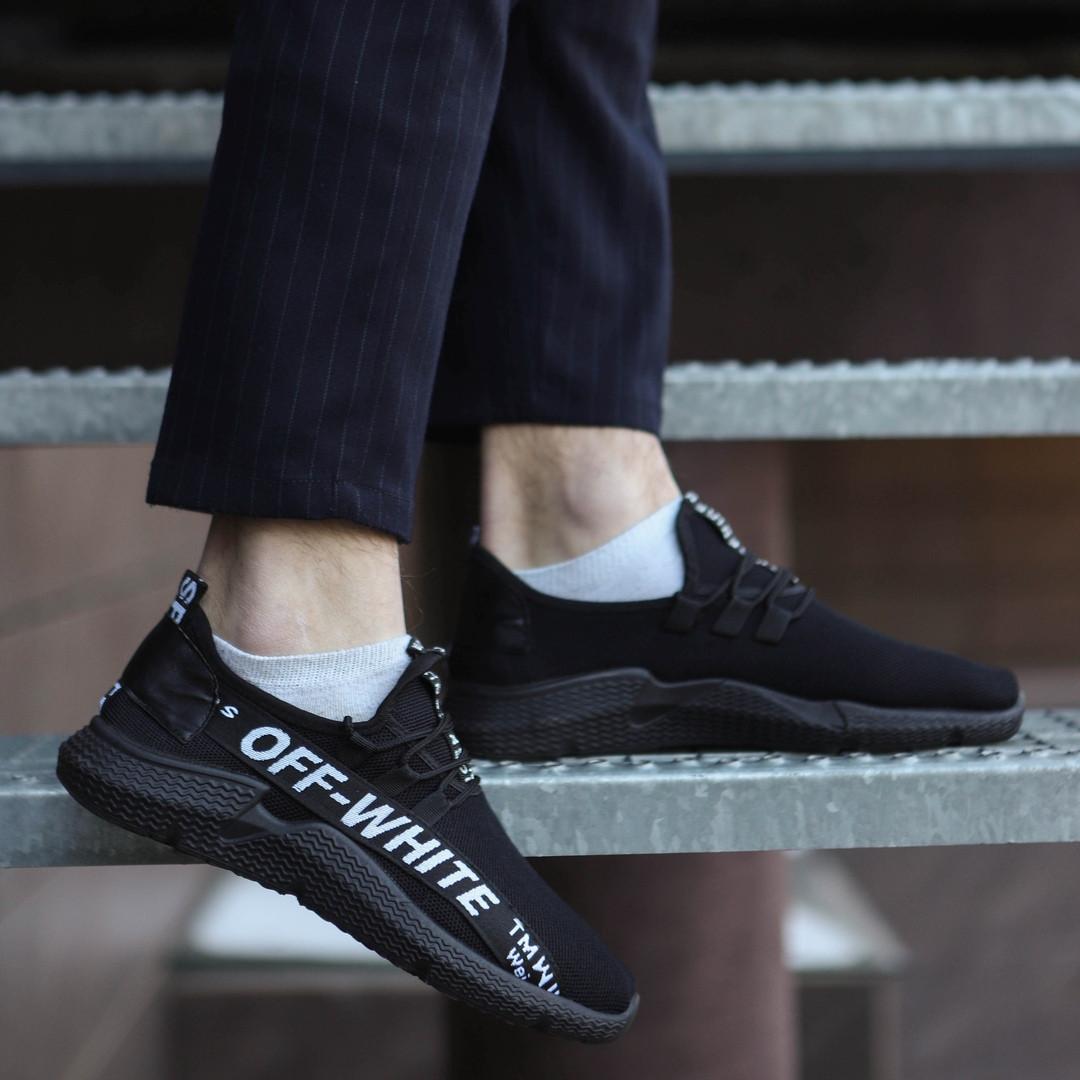 Весенние мужские кроссовки Off-White повседневные стильные качественные из сетки, ТОП-реплика